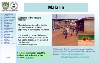 Malaria module